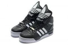 best service f9baa fca15 Buy Latest Listing Adidas X Jeremy Scott Big Tongue Shoes Black White Shoes  Store