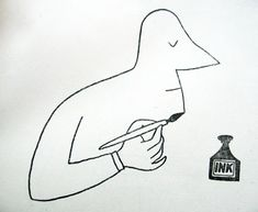 Saul Steinberg - Black and White illustration Saul Steinberg, Modern Graphic Design, Graphic Design Illustration, Graphic Art, Illustration Art, The New Yorker, Sketch Manga, You Draw, Line Drawing