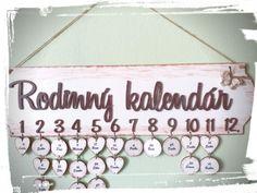 Rodinný kalendár hnedo-biely