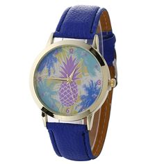 >> Click to Buy << Wrist Watches For Women Pineapple Pattern Gold Dial metal Shell Leather Band Quartz Watch Woman Watch Vrouwen Horloges@WW #Affiliate
