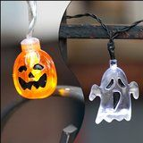 Set of 2 Halloween Themed Battery Operated String Lights with 10 LEDs - Ghost and Pumpkin christmas deals week