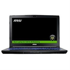 """Laptop MSI WE62-1839XES 15.6"""" Intel® Core i7-7700 16 GB 1 TB 256 GB SSD M2200 Workstation Without Op"""