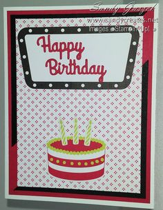 Paper Pumpkin-June 2018 - Broadway Star Birthday Cards, Happy Birthday, Paper Pumpkin, Handmade Cards, Making Ideas, Pumpkins, Stampin Up, Card Ideas, Broadway