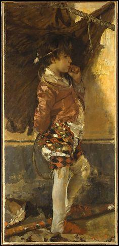 A Circus Boy Date: 1872 Medium: Oil on canvas Dimensions: 59 5/8 x 28 1/2 in. (151.4 x 72.4 cm)
