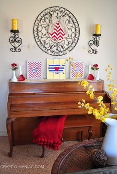 Home Decor- Patriotic Piano