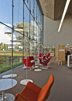 L-66 Moderno rocking chairs. Seinäjoki Library.