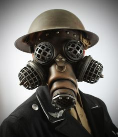 Ragnarok Gas Mask -- Steampunk Leather from Tom Banwell Designs. Shop more products from Tom Banwell Designs on Wanelo.
