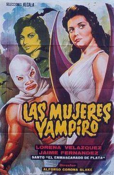 El Santo vs. las Mujeres Vampiro // Santo vs Vampire Women. 1962 Mexican Horror Film.