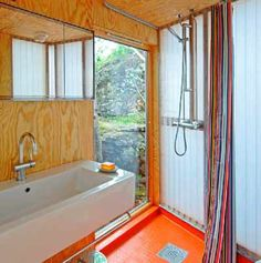 Projet de chalet Kysthus Stokkoya Turbulence Deco, Alcove, Norway, Bathtub, Bathroom, Mountain Cabins, Design, Sea, Cabin