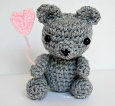 "Tiny ( 4"" ) Teddy amigurumi  pattern for free! This is adorable!!"