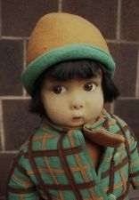Antique vintage felt cloth LENCI doll