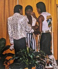 Michael, Randy & Jermaine Jackson Jackson Family, The Jackson Five, Jermaine Jackson, The Jacksons, Michael Jackson, Victorious, Fun, Painting, 1980s