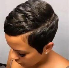 Short Relaxed Hairstyles, Short Pixie Haircuts, Black Women Hairstyles, Short Hair Cuts, Short Hair Styles, Short African American Hairstyles, Cute Short Black Hairstyles, Short Quick Weave Styles, Black Pixie Haircut