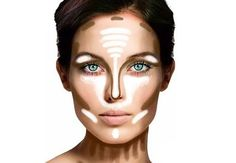 How to highlight your face...need to try...my face is struggling these days...lol #middleage