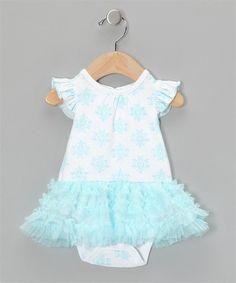 Dangerously cute! - Vitamins Baby Turquoise Scroll Tutu Bodysuit