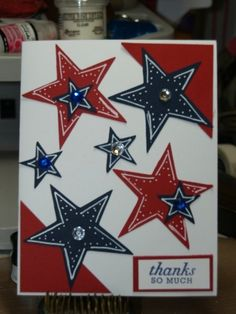 This would be an awesome card to make my Americana loving | http://cutegreetingcards.blogspot.com