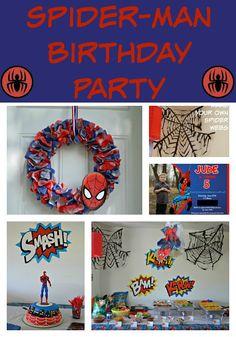 A Spidery Spider-Man Birthday Party, spiderman birthday party, spiderman party, spiderman decorations, Spider-Man party, Spider-Man birthday party, Spider-Man, Spider-Man decorations