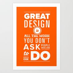 Design Quotes #1 Art Print by Semibold - $15.08