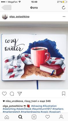 Watercolor Illustration, Watercolor Paintings, Watercolour, Art Sketches, Art Drawings, Christmas Tumblr, Copic Art, Food Painting, Sketch Markers