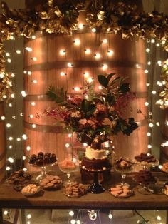 FALL  Magical lights as a backdrop to a dessert table at The Lab Event 2013!