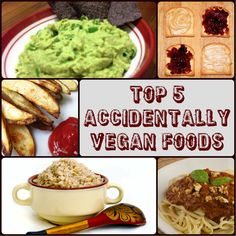 Top 5 Vegan Foods You Already Eat! #vegan #recipes #yummy #fries #breakfast
