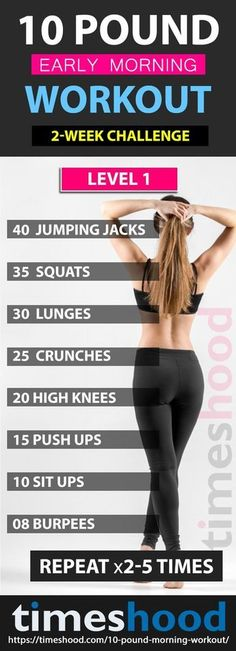 Lose 10 pounds in 3 weeks with this early morning workout plan. Best plan for beginner and advanced to lose 10 pounds in 2 weeks fast. Best weight loss tips for women. Fat burning workouts for overweight women.I can try these when Im on Workout Morni Fitness Workouts, Yoga Fitness, Fitness Goals, Exercise Workouts, Health Fitness, Workout Tips, Fitness Diet, Exercise Routines, Fat Workout