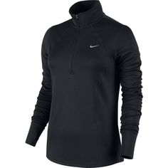 Women's Nike Racer Dri-FIT Half-Zip Running Top ($60) ❤ liked on Polyvore featuring activewear, activewear tops, grey, nike sportswear, grey pullover, dri fit pullover, nike and nike pullover