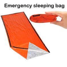 Portatile di emergenza stagnola riutilizzabile impermeabile rescue spazio termica orange campeggio esterno borsa da viaggio trekking kit da viaggio