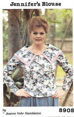 Misses' Uncut Blouse Sewing Pattern - J. Vehr Designs 8905, Jennifer's Blouse, 1989 - Multi Sizes 6 through 16 - Three Sleeve Options by KeepsakesStudio on Etsy