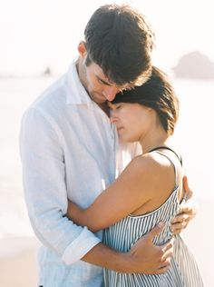 Beach Engagement Session on the California Coast | Wedding Sparrow | Brittany Lauren Photography