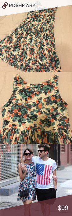 Wren floral dress as seen on Keira Knightly! Floral dress by Wren.  Not new, but in excellent condition.  As seen on Keira Knightly! Zips up the side.  Size Small.  100% cotton.  Made in the USA. Wren Dresses