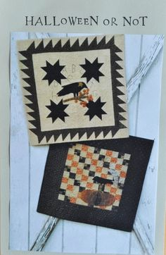 A NEW Cheri Payne Pattern, 'Halloween or Not'    We are so lucky to have local quilt artist Cheri Payne visit our shop often and to see her creations begin with the picking of fabric!
