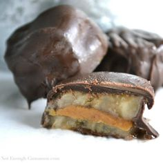 Chocolate Covered Frozen Banana & Peanut Butter Bites  (sub nut butter or sunbutter)   #NotEnoughCinnamon