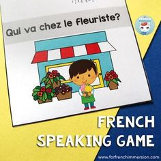 """French speaking game to practice sentences using """"en ville"""" vocabulary: this game plays just like J'ai... Qui a...?, but with sentences including the verb """"Je vais..."""" and vocabulary for places to go, such as """"chez la vétérinaire"""", """"à la plage"""", """"au zoo"""", French Teacher, Teaching French, How To Speak French, Learn French, Sentences, Speaking Games, Core French, French Phrases, French Immersion"""
