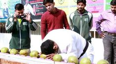 Pakistani breaks forty three coconuts in 60 seconds to make new history  http://www.bicplanet.com/strange-facts/pakistani-breaks-forty-three-coconuts-in-60-seconds-to-make-new-history/  #Strangefacts