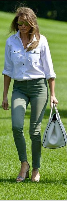 First Lady Melania Trump in J. Brand Jeans June 18, 2017