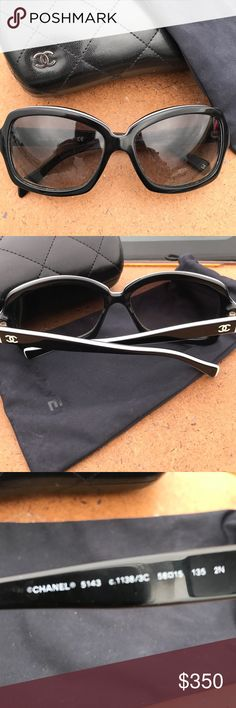 Chanel authentic sunglasses NOT AVAILABLE BUNDLES Worn few times,comes with case and dust bag.ask for additional pictures CHANEL Accessories Glasses