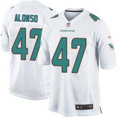 Men s Nike Miami Dolphins  47 Kiko Alonso Game White NFL Jersey 2411a97c30c6
