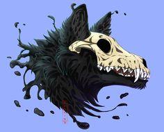 40 Super Ideas Whimsical Animal Art Fantasy – World Creature Drawings, Animal Drawings, Art Drawings, Drawing Animals, Drawing Art, Pet Anime, Arte Obscura, Mythical Creatures Art, Creepy Art