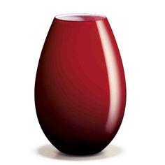 COCOON Vase H20.5 cm red, Holmegaard