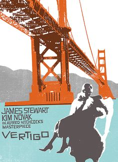 Vertigo Movie Print by automatte on Etsy Vertigo Movie, Hitchcock Film, Alfred Hitchcock, Epic Movie, Film Movie, Movie Poster Art, Film Posters, Movie Prints, Movies