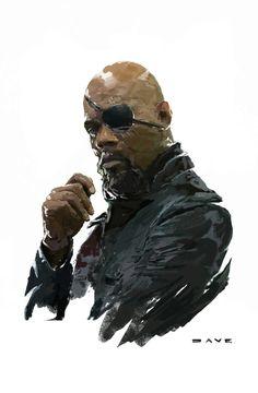 Fury ...Director of S.H.I.E.L.D — by Dave Seguin, via ArtStation