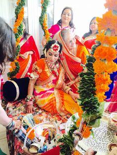 Flower jewellery | Indian bride | colourful festive teej | Rajasthan
