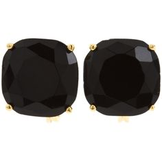 Kate Spade New York Kate Spade Small Clip Earrings Earring (3.190 RUB) ❤ liked on Polyvore featuring jewelry, earrings, accessories, brincos, jewels, black, sparkly earrings, kate spade earrings, kate spade and clip back earrings