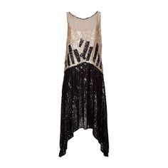Rewind Vintage Affairs Sequinned 1920'S Flapper Dress - Rewind Vintage... ❤ liked on Polyvore featuring dresses, vestidos, 1920s, cocktail dresses, gowns, vintage dresses, 1920s gatsby dress, vintage 20s dresses, sequin cocktail dresses and sequin flapper dress