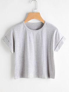 Camiseta de mangas enrolladas