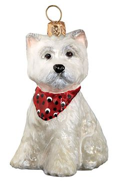 Joy to the World Collectibles' Westie with Bandana' Ornament | Nordstrom