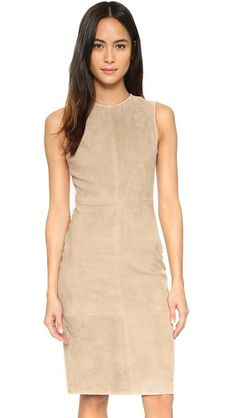 Theory Eano L Suede Dress