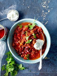 Chili con Carne geht immer. Dieses haben wir mit einem Teelöffel Zimt köstlich abgeschmeckt. Richtig lecker!