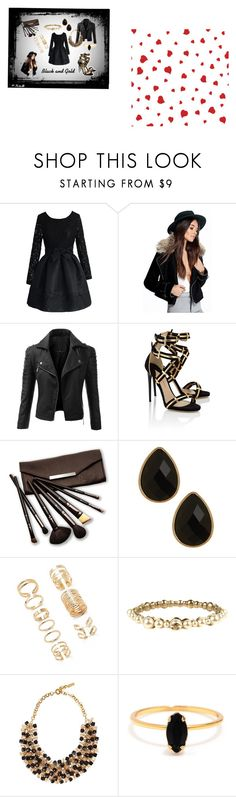 """""""Black and Gold"""" by ujvari-katinka on Polyvore featuring Chicwish, Boohoo, Doublju, Paul Andrew, Borghese, Natasha Accessories, Forever 21, Chanel, Etro and Bing Bang"""